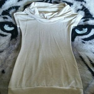 NWOT Poof Cowl Neck Tunic Top
